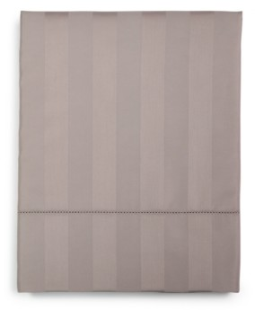 """Charter Club Damask 1.5"""" Stripe Queen Flat Sheet, 550 Thread Count 100% Supima Cotton, Created for Macy's Bedding"""