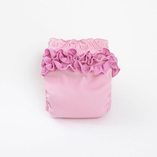 CoCalo Perfect Bum Diaper Covers - Pink Ruffle (Medium)