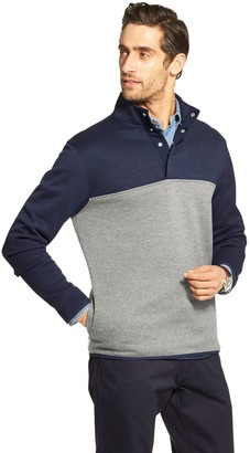 Izod Men's Sportswear Premium Essentials Classic-Fit Colorblock Sweater Fleece Snap-Front Pullover
