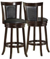 Monarch Two-Piece Padded-Back Bar-Height Stools