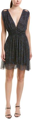 Isabel Marant Etoile Pleated Silk Mini Dress