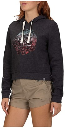 Hurley Sig Zane Perfect Fleece Crop Pullover (Oil Grey Heather) Women's Clothing