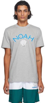 Noah NYC Grey adidas Originals Edition Shell Logo T-Shirt
