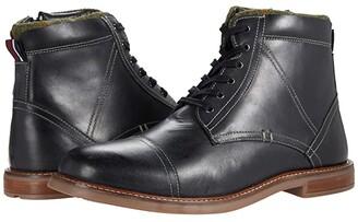 Ben Sherman Leon Cap Toe Boots (Black Leather) Men's Shoes