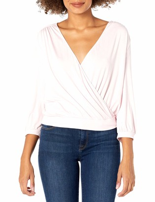 Three Dots Women's LD4598 Refined Jersey Crossover TOP