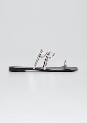 Giuseppe Zanotti Strappy Chain Toe-Ring Flat Sandals