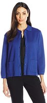 Anne Klein Women's 2 Pocket Button Down Cardigan