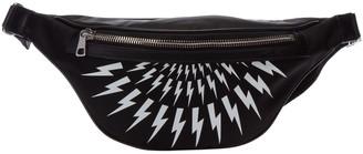 Neil Barrett Fair-Isle Thunderbolt Bum Bag
