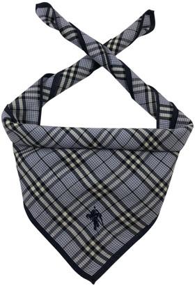 Burberry Blue Cotton Scarves & pocket squares