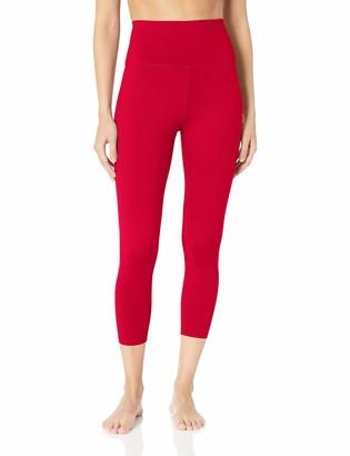 "Core 10 Amazon Brand Women's Size All Day Comfort High Waist 7/8 Crop Yoga Legging - 24"""