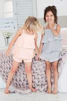 Next Girls Pink/Blue Stripe Short Pyjamas Two Pack (9mths-8yrs) - Blue