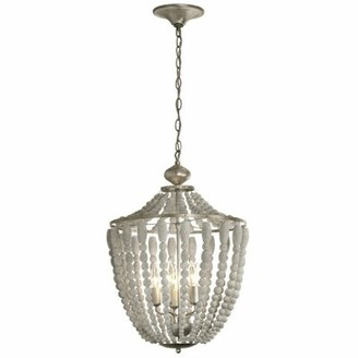 Bungalow Rose Zoila 5 - Light Lantern Geometric Chandelier with Beaded Accents