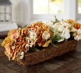 Pottery Barn Faux Golden Flower Arrangement in Basket
