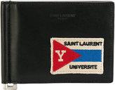 Saint Laurent Université patch wallet - men - Calf Leather - One Size