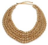 Kenneth Jay Lane Multi-Row Link Bib Necklace