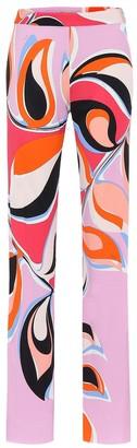Emilio Pucci Printed high-rise crApe pants