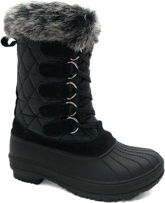 Wild Diva Women's Cold Weather Boots BLACK - Black Bitty Boot - Women