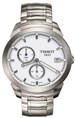 Tissot Men's Titanium GMT Bracelet Watch, 43mm