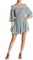 Romeo & Juliet Couture Gauze Off-The-Shoulder Dress