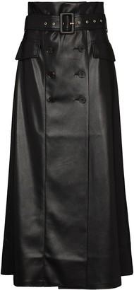 Nanushka Zane faux-leather midi skirt