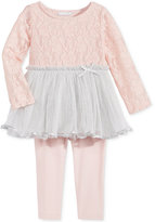 First Impressions 2-Pc. Lace Tunic & Leggings Set, Baby Girls (0-24 months), Only at Macy's