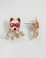 Monki Dog Love Stud Earrings