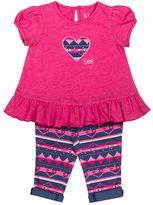 Lee Toddler Girl Heart Fairisle Tunic & Leggings Set