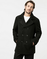 Le Château Rib Melton Notch Collar Peacoat