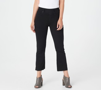 Spanx Black Wash Cropped Flare Jeans