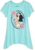Disney Moana Handkerchief-Hem T-Shirt, Big Girls (7-16)