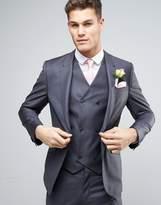 Asos WEDDING Slim Suit Jacket in 100% Wool in Charcoal