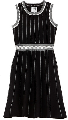 Milly Vertical Textured Flare Dress