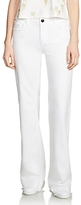 Maje Pavara Flared Jeans in White