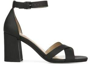 Naturalizer Maggie Faux Leather Ankle-Strap Heeled Sandals