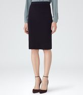 Reiss Dalane KNITTED PENCIL SKIRT