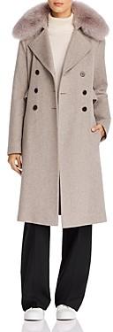 Maximilian Furs Fox Fur Trim Wool Coat - 100% Exclusive