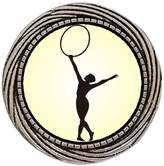 GiftJewelryShop Ancient Style Silver Plate Olympics rhythmic gymnast perform with hoop Winding Pattern Pins Brooch