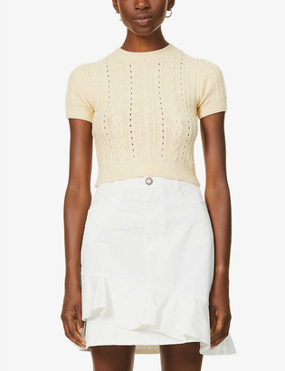 Free People Short and Sweet cotton-blend knitted jumper