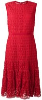 Giambattista Valli embroidered flared dress - women - Silk/Cotton/Polyester - 44