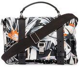 Proenza Schouler PS1 Medium Printed Nylon Mailbag, Black/White