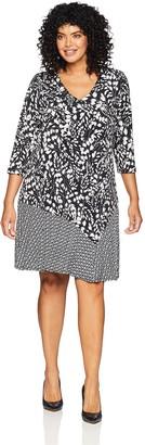 Karen Kane Women's Plus Size Abstract Print Dress 1X