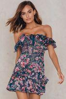 For Love & Lemons Flora Off Shoulder Mini Dress