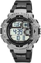 JCPenney Armitron Mens Black Nylon Strap Chronograph Watch 40/8309GRY