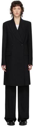 Ann Demeulemeester Black Lightlaine Coat