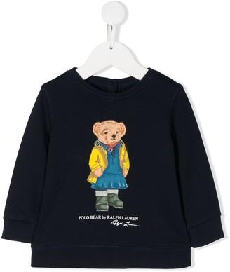Ralph Lauren Kids Polo Bear crew neck sweatshirt