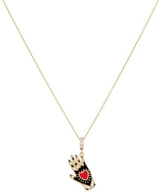 L'ATELIER NAWBAR Yellow Gold Rich Kitsch Heart on Sleeve Pendant Necklace