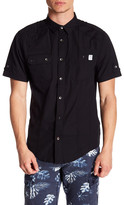 ProjekRaw Projek Raw Short Sleeve Front Pocket Woven Modern Fit Shirt