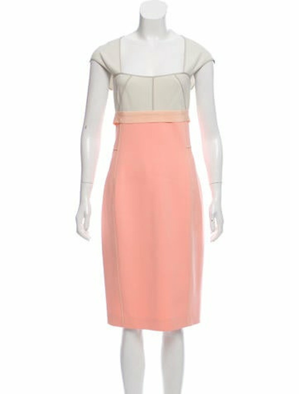 Narciso Rodriguez Sleeveless Colorblock Midi Dress pink