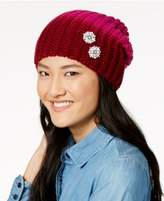 Echo Ombré Embellished Slouchy Beanie