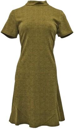 Nanette Lepore Mock Neck Plaid Texture Dress